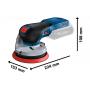Аккумуляторная произвольно-орбитальная шлифовальная машина Bosch GEX 18V-125 (Бош, 0601372201)