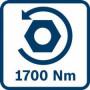 Аккумуляторные ударные гайковерты GDS 18V-1050 H, с 2 литий-ионными аккумуляторами 8,0 A • ч ProCORE18V,Бош (06019J8502)