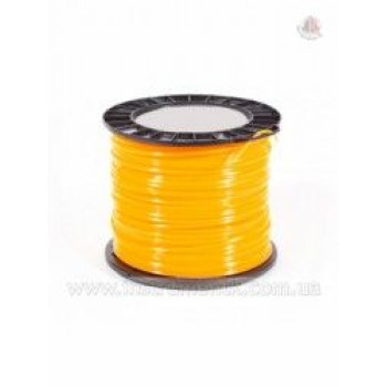 Косильная струна Husqvarna Quadra Donut Yellow 2.7 мм x 55 м, квадратная, Хускварна (5908464-03)